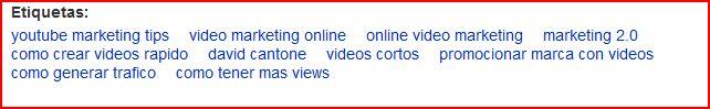 youtube etiquetas