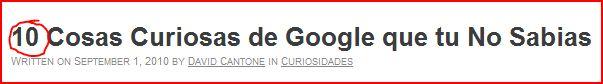 listas google