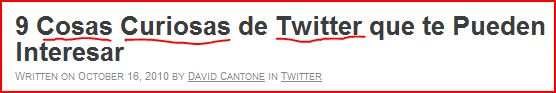 palabras clave twitter titulo