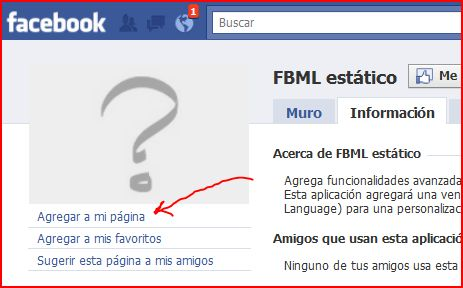 agregar fbml a mi pagina