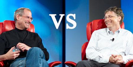 Steve Jobs vs Bill Gates foto