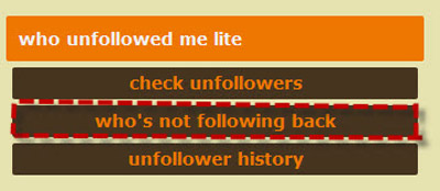 who´s not following back