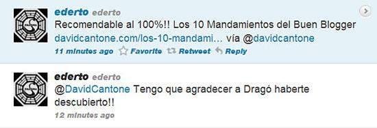2 tweets de una persona que me descubre gracias a Dragó