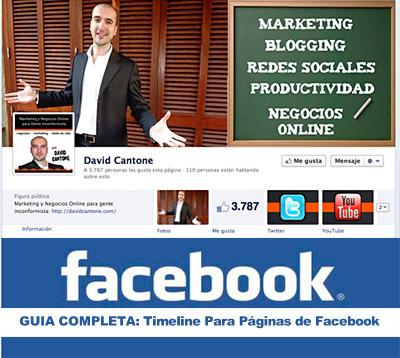 timeline paginas facebook